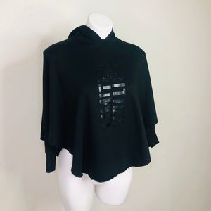 Art Class Youth Black Cropped Hoodie (M 7/8)